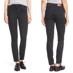 Madewell High Rise Skinny Jeans Black + Grey